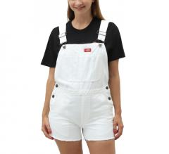 Dickies Womens Roopville Shorts Bib White
