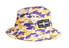 "Monmon ""The Bucket Hat"" Angels Camo Purple / Yellow / White"