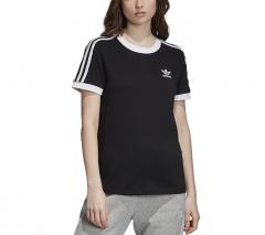 Adidas Womens 3 Stripes Tee Black