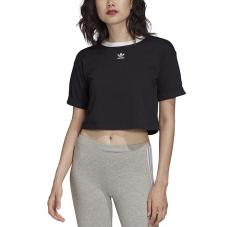 Adidas Originals Womens Crop Top Black / White