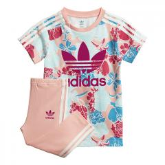 Adidas Kids Tee Dress Set Glow Pink / Multicolor / Bold Pink