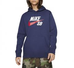 Nike SB Icon Hoodie Midnight Navy / University Red