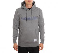 Mitchell & Ness Classic Fleece Hoodie Grey Heather