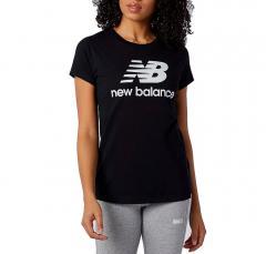 New Balance Essentials Womens Stacked Logo T-Shirt Black