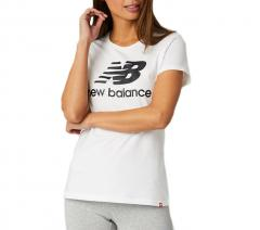 New Balance Essentials Womens Stacked Logo T-Shirt White