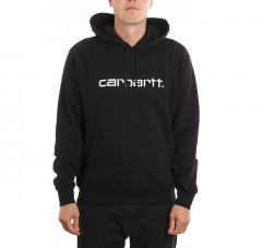 Carhartt WIP Hooded Sweatshirt Black / White