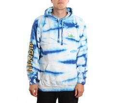 RIPNDIP Hang Ten Hoodie Baby Blue Stripe Wash