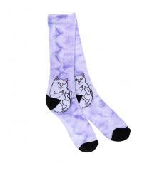 RIPNDIP Lord Nermal Socks Purple Tie Dye