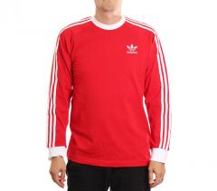 Adidas Originals 3 Stripes LS Tee Scarlet