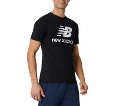 New Balance Essentials Stacked Logo T-Shirt Black