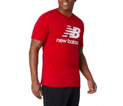 New Balance Essentials Stacked Logo T-Shirt Red