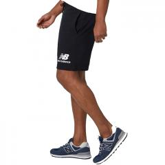 New Balance Essentials Stacked Logo Shorts Black