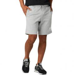 New Balance Essentials Stacked Logo Shorts Athletic Grey
