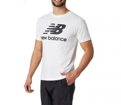 New Balance Essentials Stacked Logo T-Shirt White