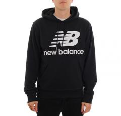 New Balance Essentials Stacked Logo Hoodie Black