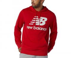 New Balance Essentials Stacked Logo Hoodie Red