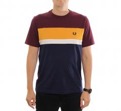 Fred Perry Colourblock T-Shirt Mahogany