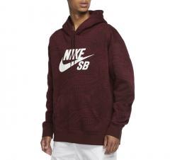 Nike SB AOP Hoodie Dark Beetroot / Mystic Dates / White