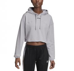Adidas Originals Womens R.Y.V. Cropped Hoodie Glory Grey