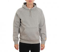 Carhartt WIP Hooded Chase Sweatshirt Dark Grey Heather / Gold