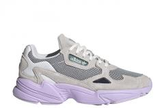 Adidas Womens Falcon Light Grey / Violet / Crystal White