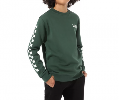 Vans Youth Exposition Check Crew Pine Needle