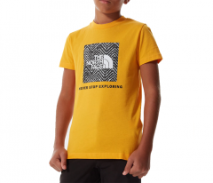 The North Face Youth Box Logo Tee Summit Gold