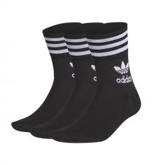 Adidas Originals Mid Cut Crew Socks Black / White