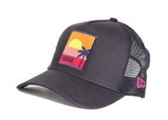 New Era Location Black A-Frame Trucker Miami