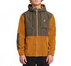Volcom Yzzolate Lined Zip Up Hoodie Golden Brown