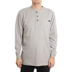 Dickies Henley Tee Heather Grey