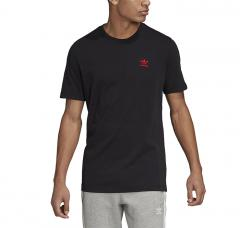 Adidas Originals Trefoil Essentials Tee Black / Scarlet
