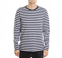 Makia Verkstad Long Sleeve Navy / White