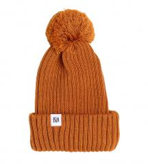 ISLA Iona Kids Merino Beanie Cinnamon Brown