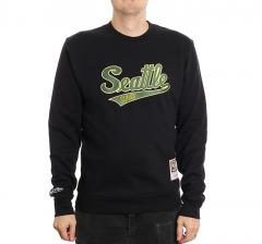 Mitchell & Ness Embroidered Logo Crew Seattle Supersonics Black