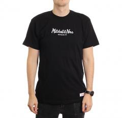 Mitchell & Ness Pinscript T-Shirt Black
