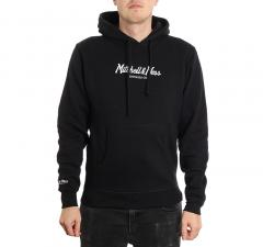 Mitchell & Ness Pinscript Hoodie Black