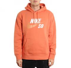 Nike SB Icon Hoodie Healing Orange / Amber Brown