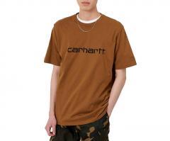 Carhartt WIP S/S Script T-Shirt Hamilton Brown / Black