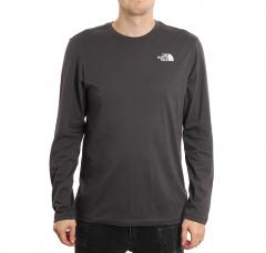 The North Face Redbox L/S Tee Asphalt Grey / Summit Gold