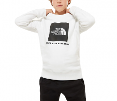 The North Face Youth Box Crew TNF White / TNF Black