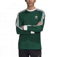 Adidas Originals 3 Stripes LS Tee Dark Green