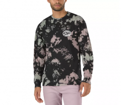 Vans Wall Slide Long Sleeve T-Shirt Black Tie Dye