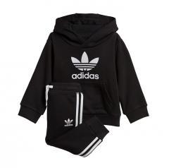 Adidas Kids Trefoil Hoodie Set Black / White