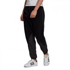 Adidas Originals Big Trefoil Polar Fleece Mix Track Pants Black