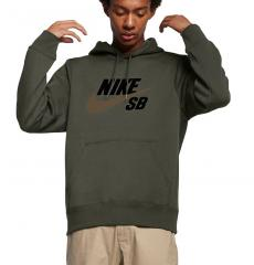 Nike SB Icon Hoodie Cargo Khaki / Yukon Brown