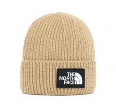 The North Face Logo Box Cuffed Beanie Hawthorne Khaki
