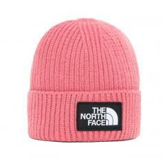 The North Face Logo Box Cuffed Beanie Mesa Rose
