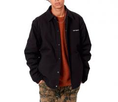 Carhartt WIP Canvas Coach Jacket Black / White
