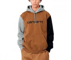 Carhartt WIP Hooded Tricol Sweatshirt Hamilton Brown
